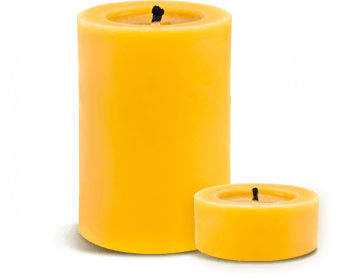 Homemade natural beeswax candles