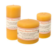 Variety of Smooth Beeswax Candles